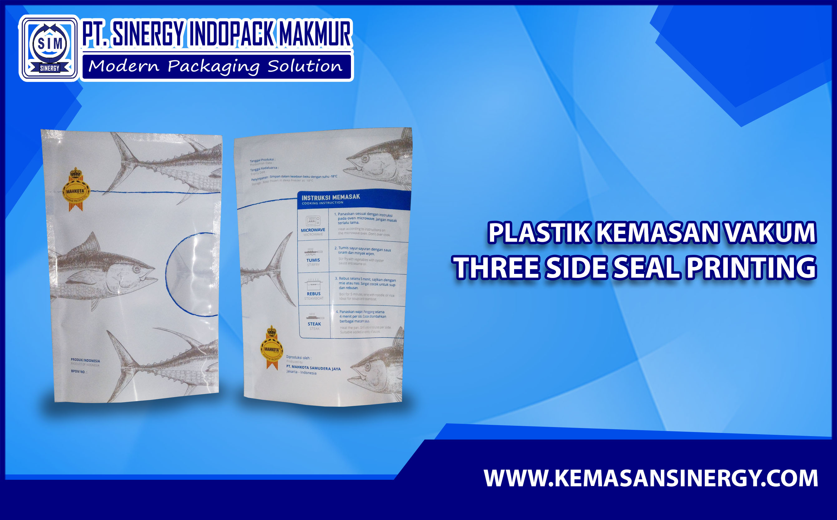 Kemasan Plastik Vakum (Vacuum Bag - Three Side Seal)