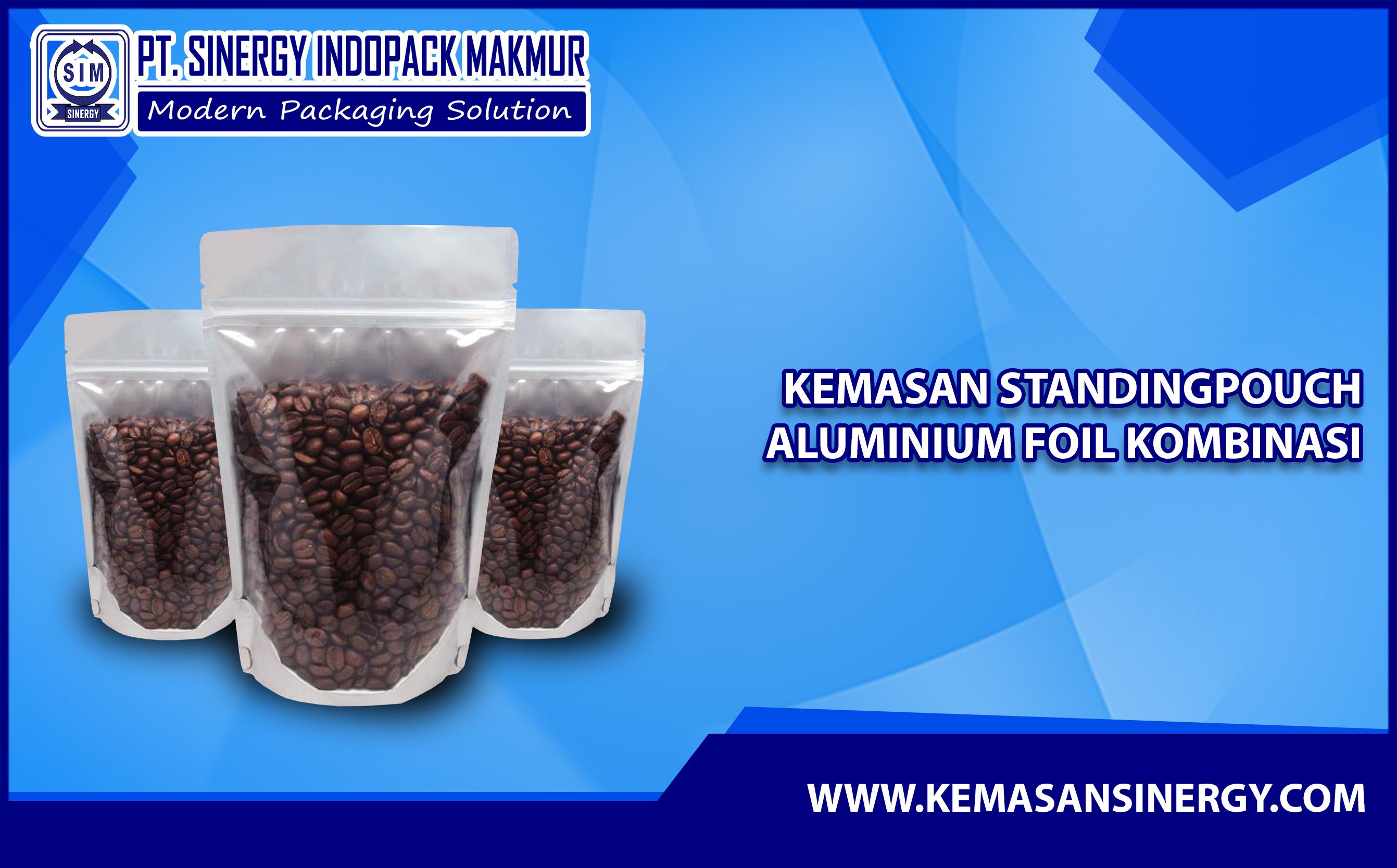 Kemasan Aluminium Foil (Alufoil Standing Pouch Kombinasi)