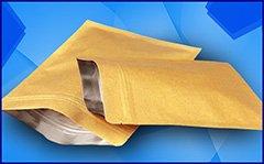 Kemasan Kertas Kraft Foil Standing Pouch Zipper