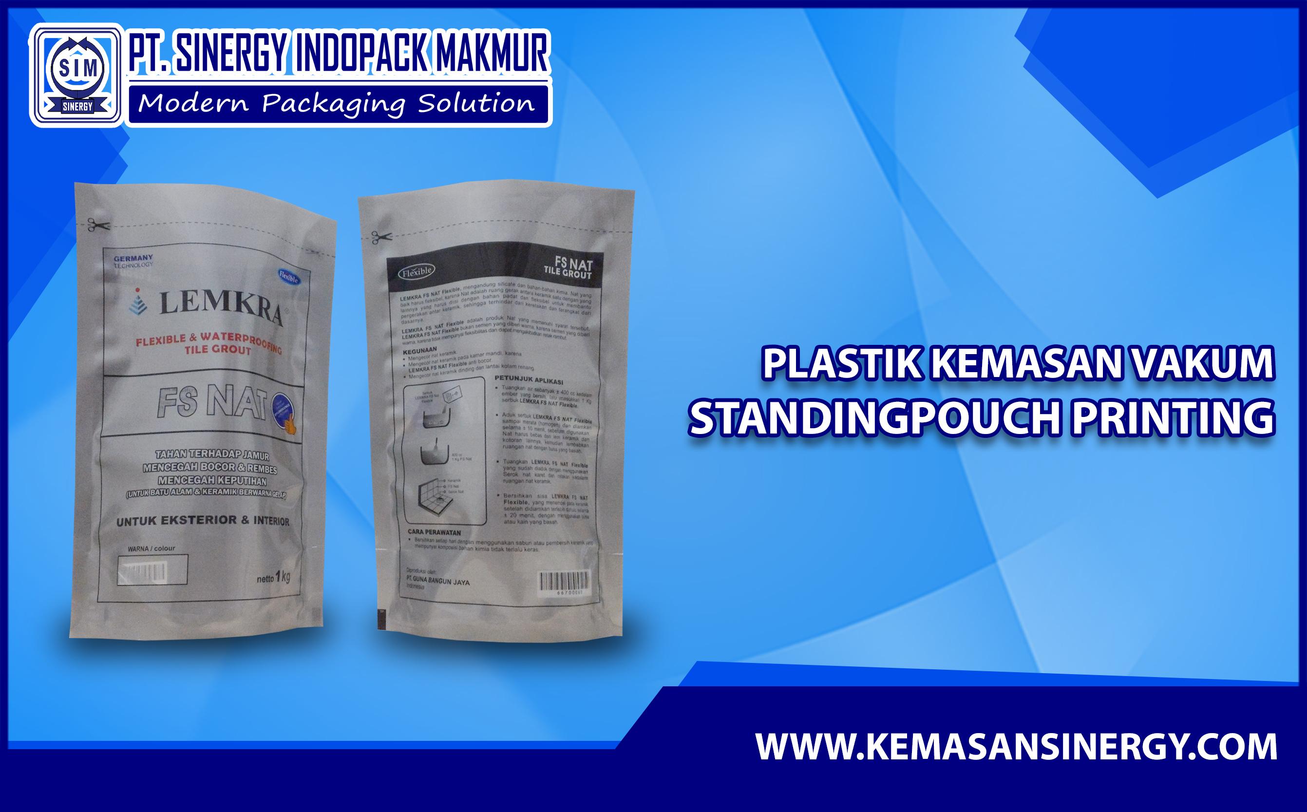 Kemasan Plastik Vakum (Vacuum Bag - Standing Pouch)