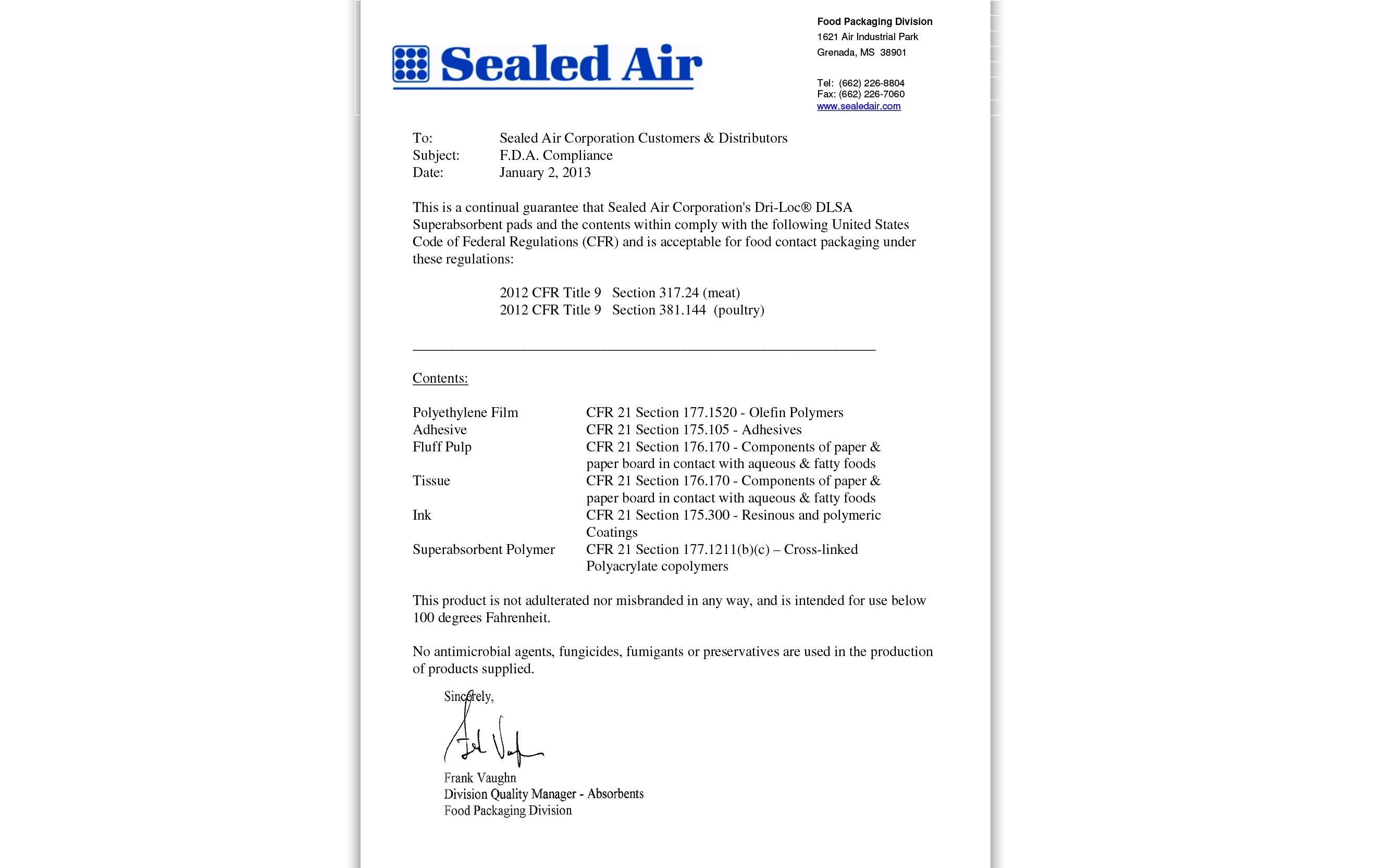 DRI-LOC (Super Absorbent Pads) DLS-25