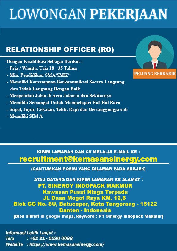 Lowongan Kerja Relationship Officer