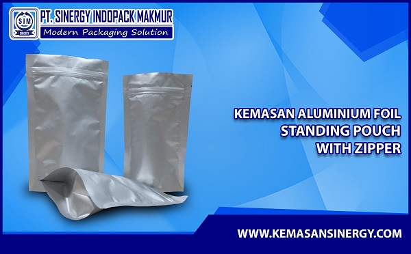 Kemasan Standing Pouch Alufoil Polos